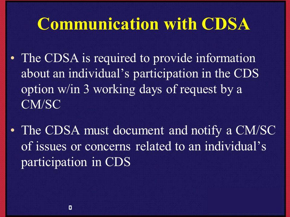 Communication with CDSA