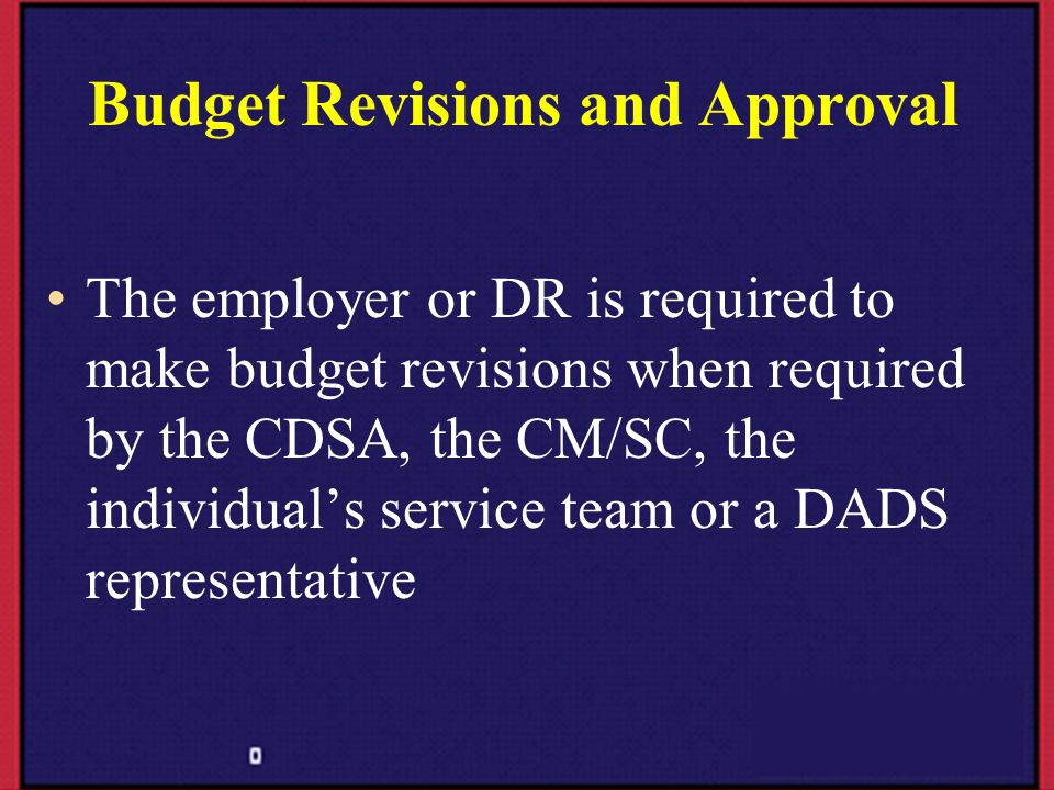 Budget Revisions and Approval