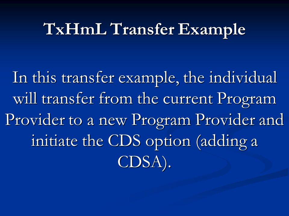 TxHmL Transfer Example