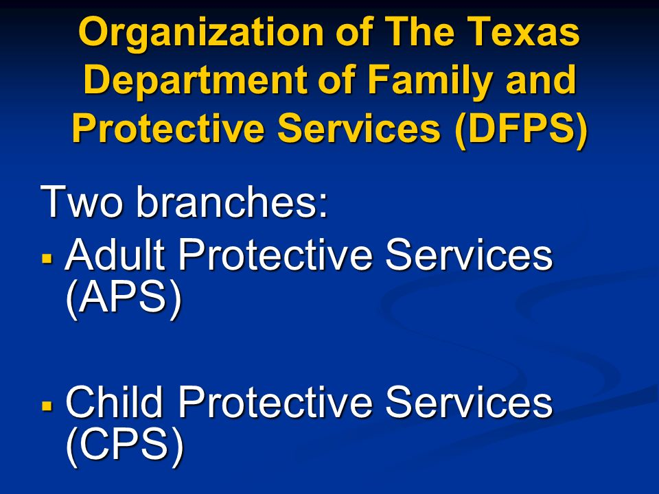 Adult Protective Services (APS)