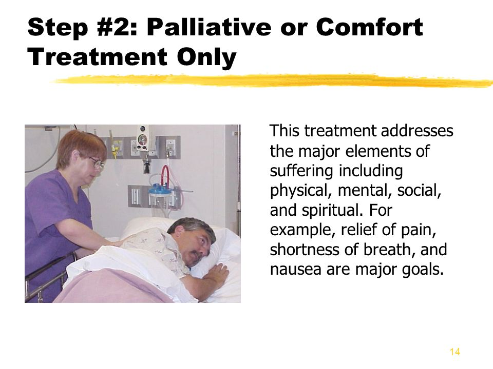 Step #2: Palliative or Comfort Treatment Only