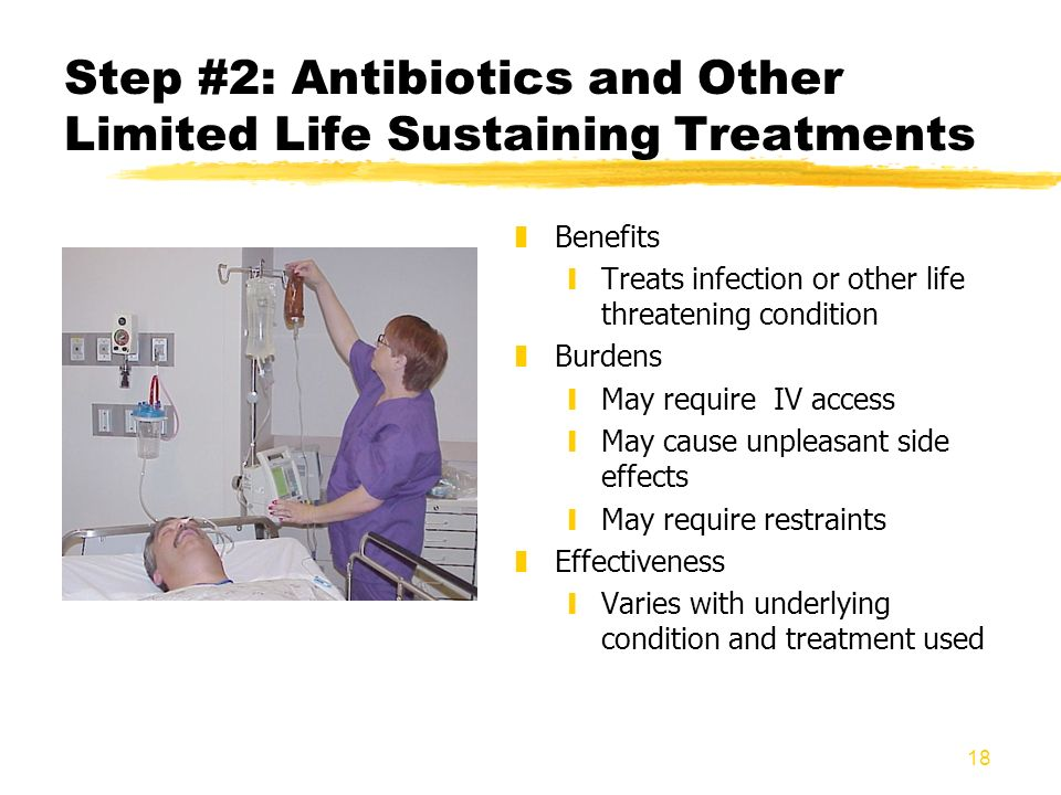 Step #2: Antibiotics and Other Limited Life Sustaining Treatments