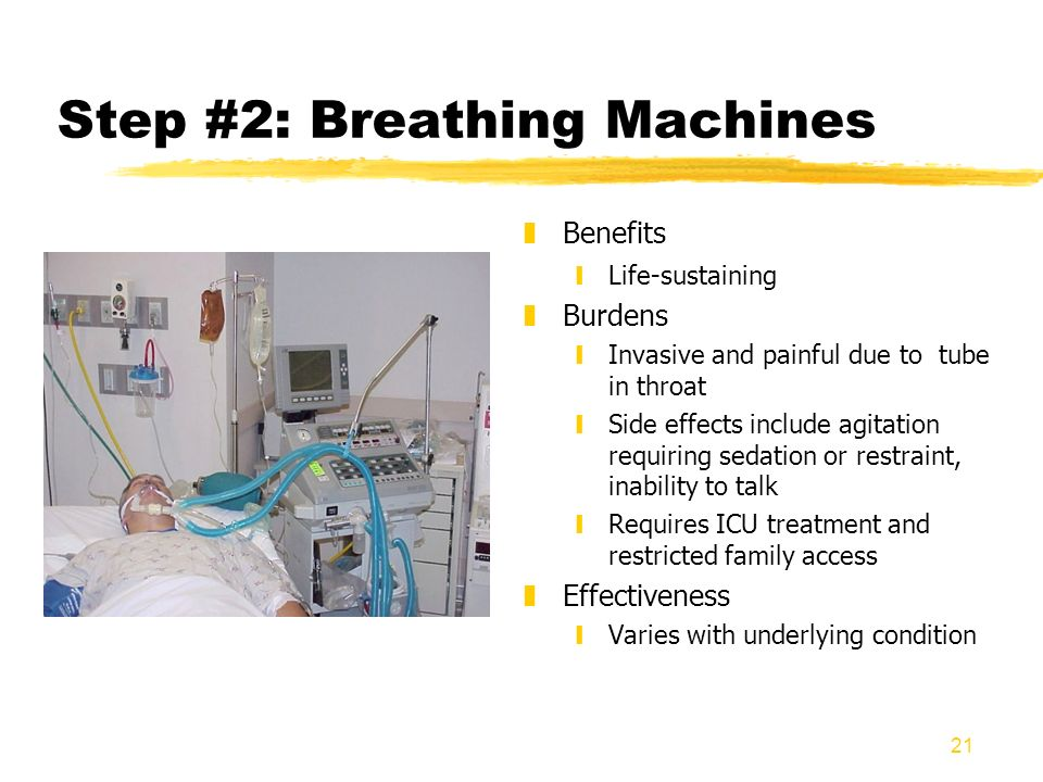 Step #2: Breathing Machines