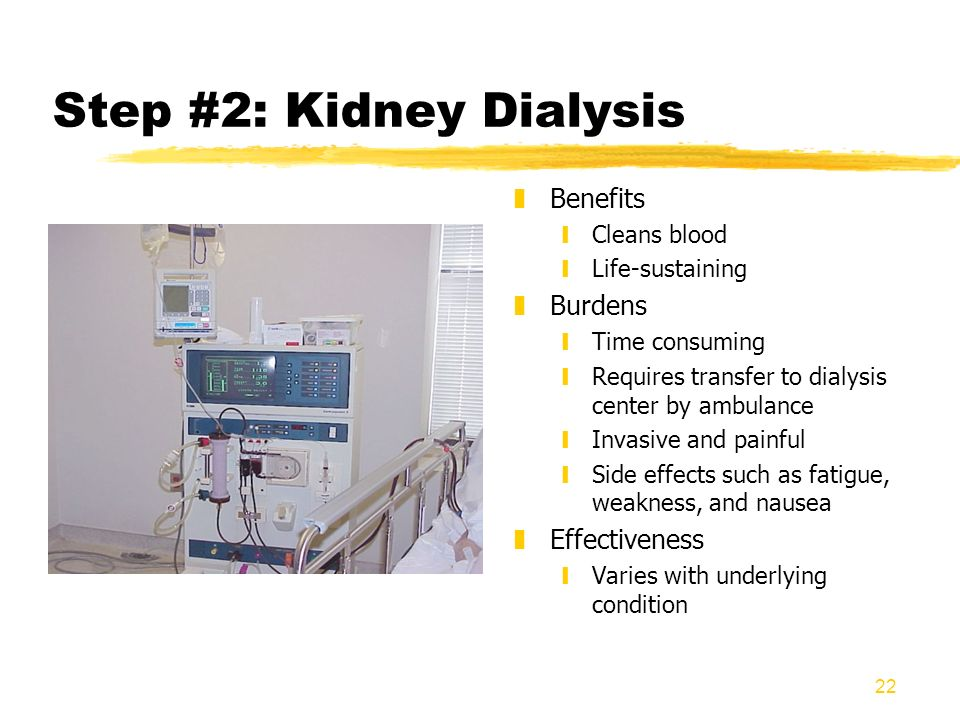 Step #2: Kidney Dialysis