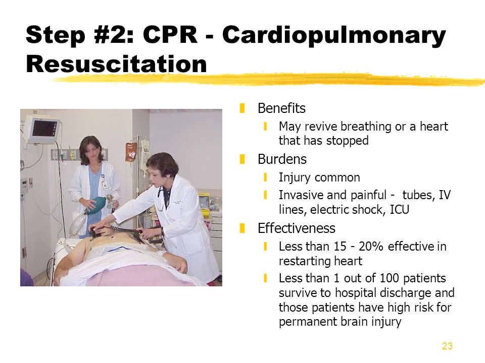 Step #2: CPR - Cardiopulmonary Resuscitation