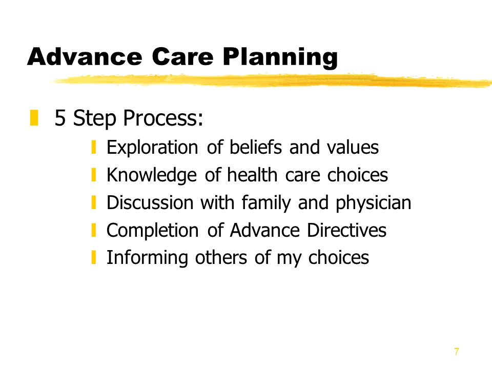 Advance Care Planning 5 Step Process: