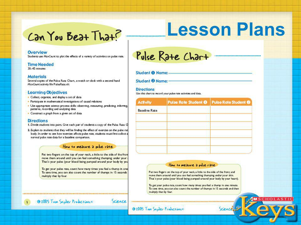 Lesson Plans Here's an example of some of the lesson plans that you'll find on the site…many lessons include worksheets and activity files.
