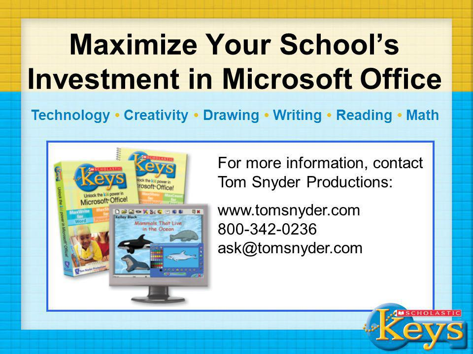 Maximize Your School's Investment in Microsoft Office