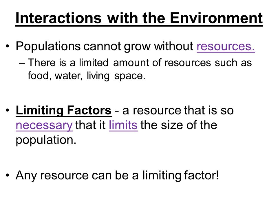 Interactions of Living Things - ppt download