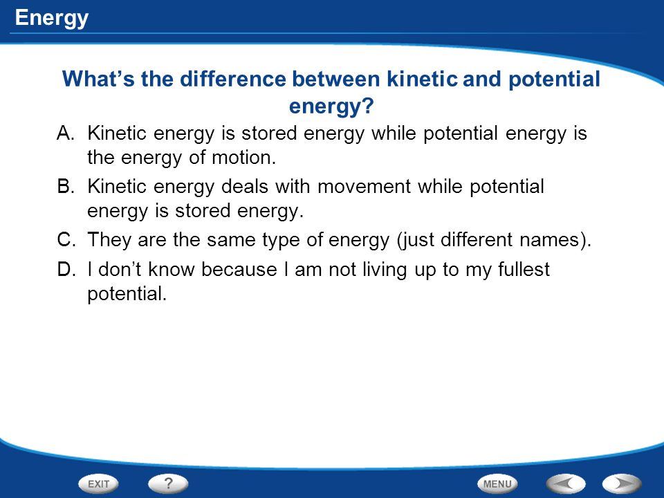 Potential And Kinetic Energy Diagram Kinetic And Potential Energy