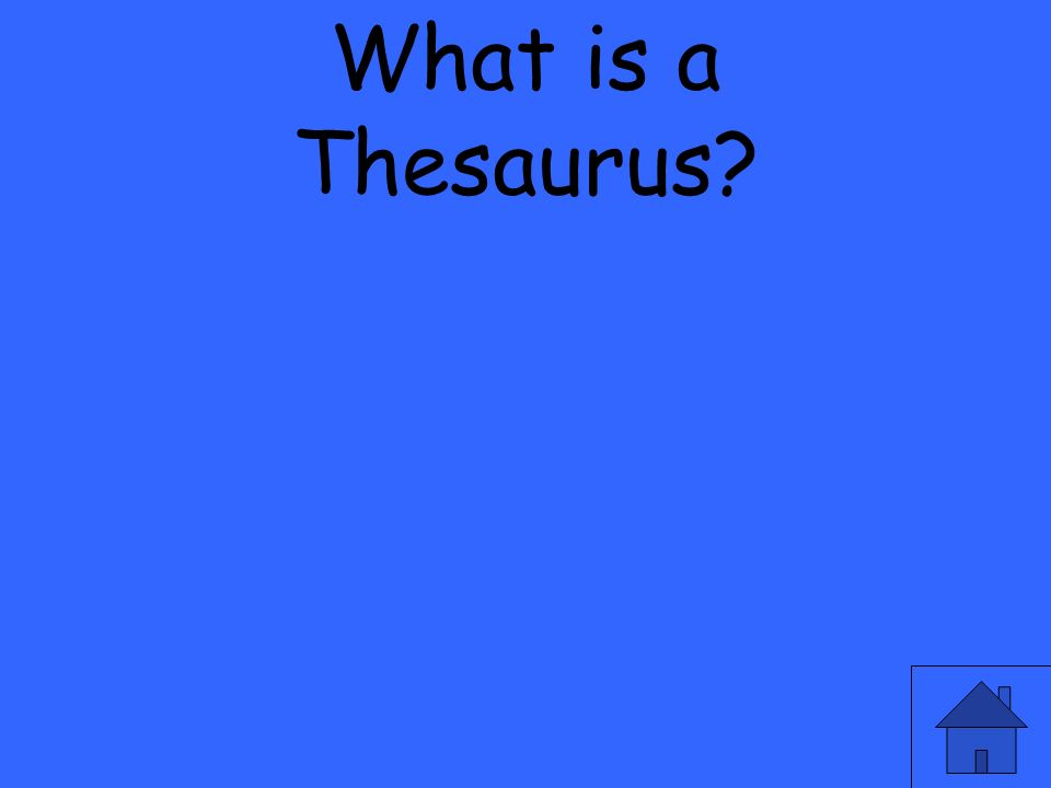 What is a Thesaurus
