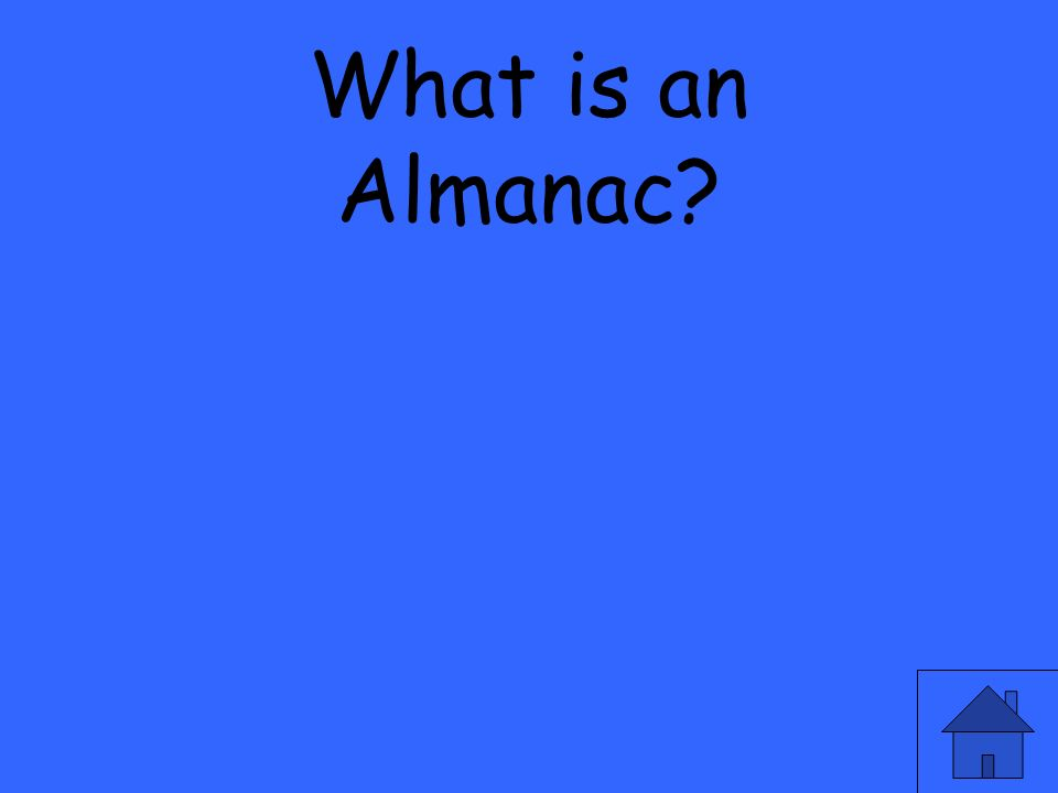 What is an Almanac