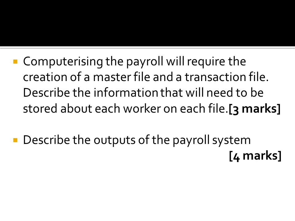 Chapter 2.8 PAYROLL APPLICATIONS. - ppt download