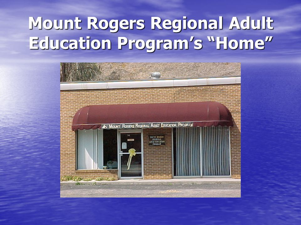 Mount Rogers Regional Adult Education Program's Home