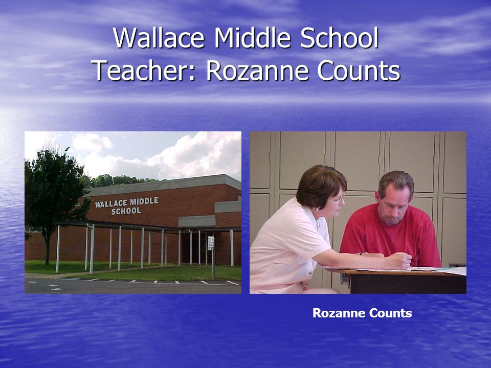 Wallace Middle School Teacher: Rozanne Counts