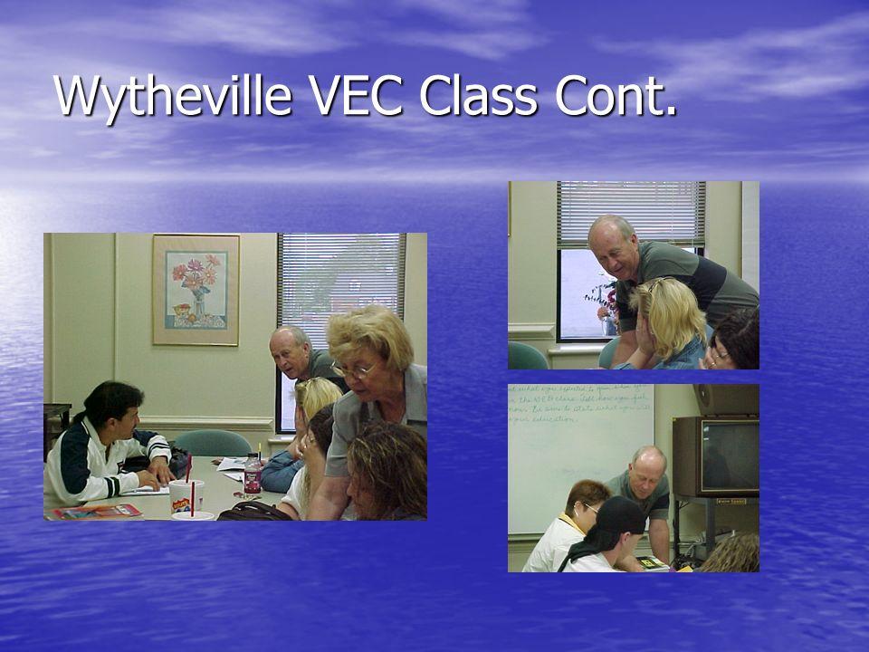 Wytheville VEC Class Cont.