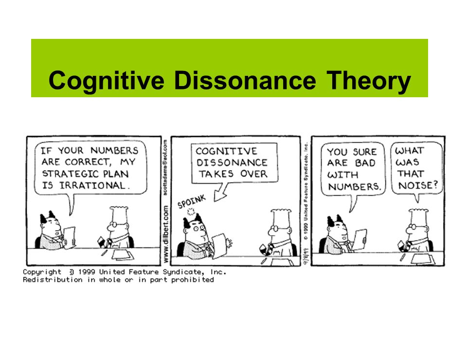 cognitive dissonance stereotyping Cognitive dissonance is a theory of human motivation that asserts that it is psychologically uncomfortable to hold contradictory cognitions the theory is that dissonance, being unpleasant, motivates a person to change his cognition, attitude, or behavior.