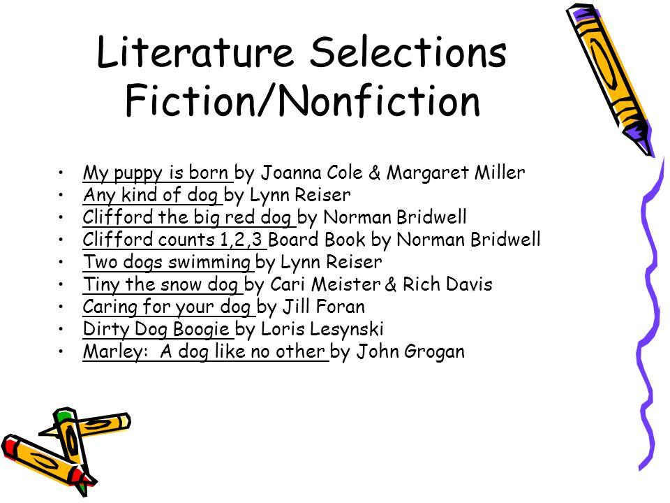 Literature Selections Fiction/Nonfiction