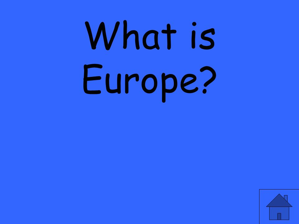 What is Europe