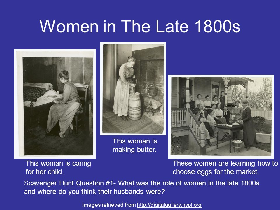 Women in The Late 1800s This woman is making butter.