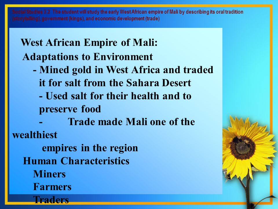 West African Empire of Mali: