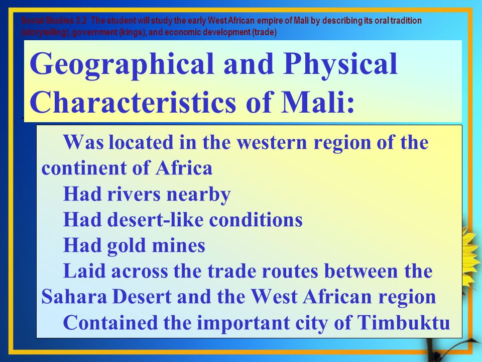 Geographical and Physical Characteristics of Mali: