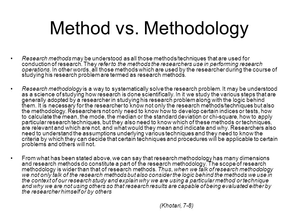 scope scientific method and research problem