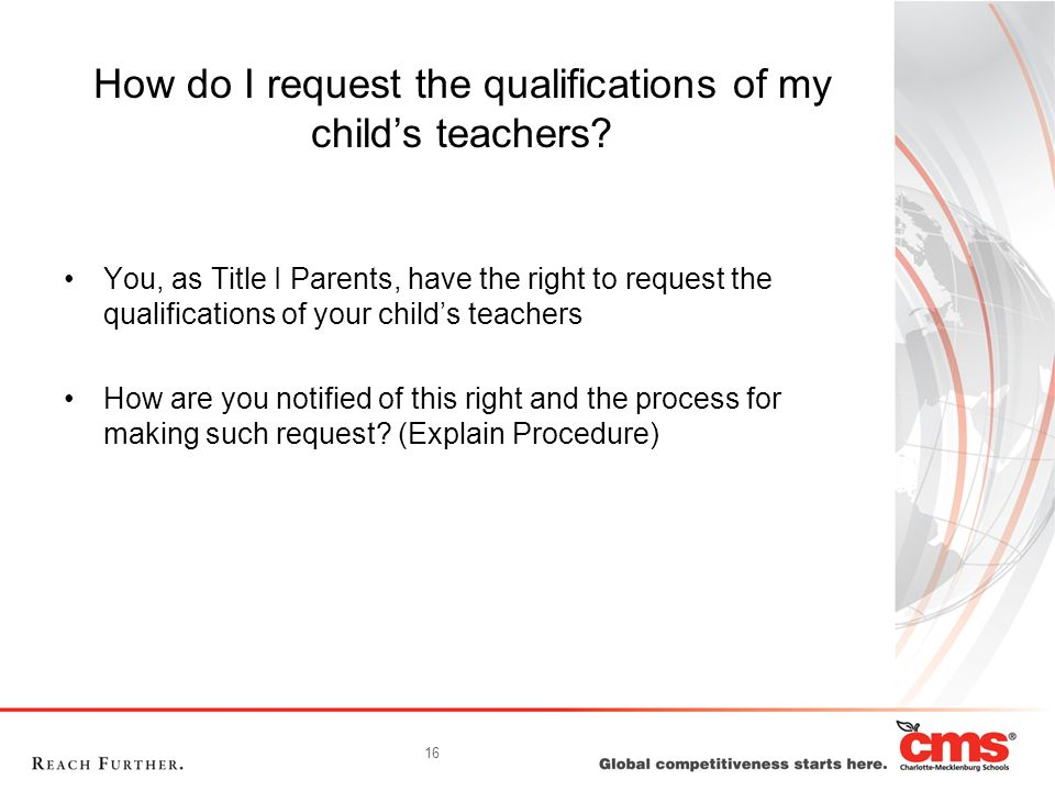 How do I request the qualifications of my child's teachers
