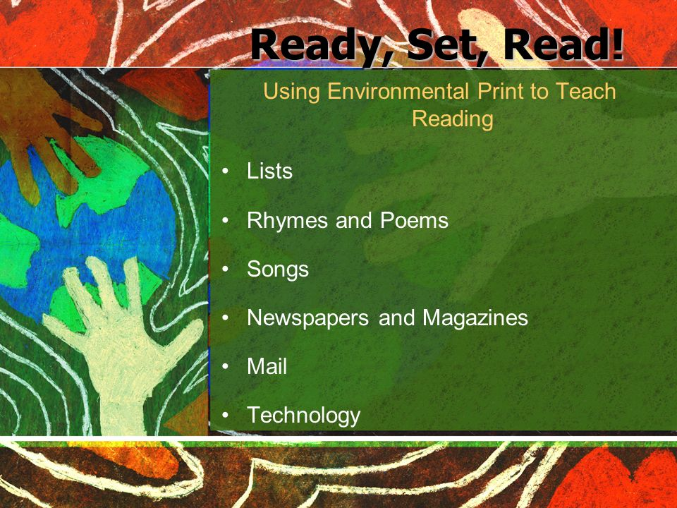 Using Environmental Print to Teach Reading