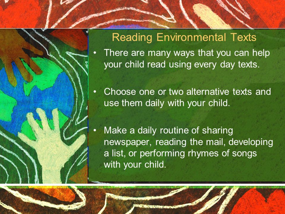 Reading Environmental Texts