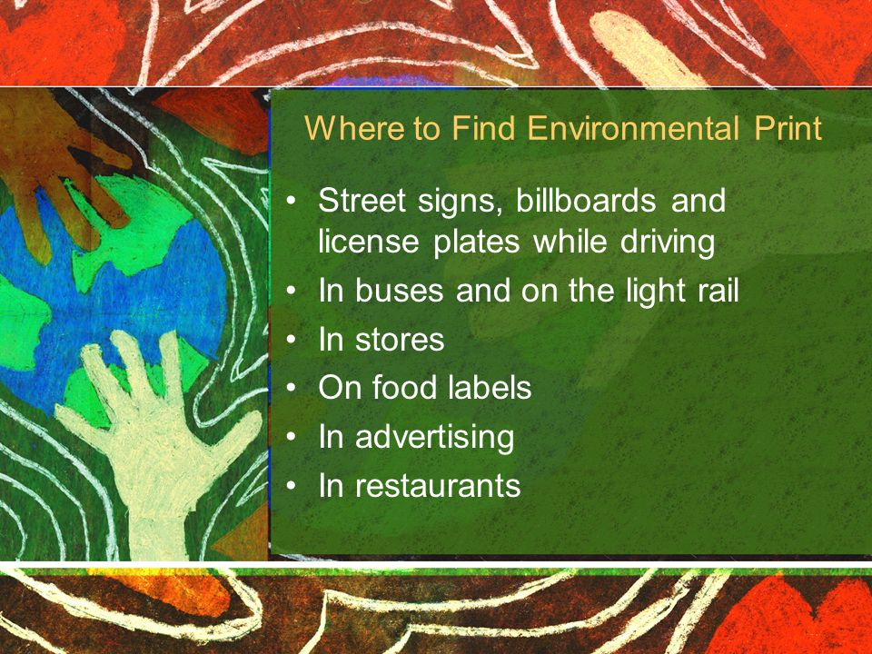 Where to Find Environmental Print