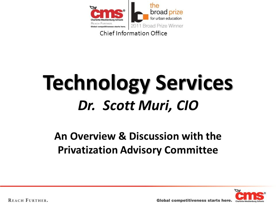 An Overview & Discussion with the Privatization Advisory Committee