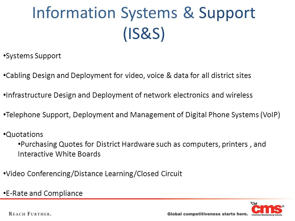 Information Systems & Support (IS&S)