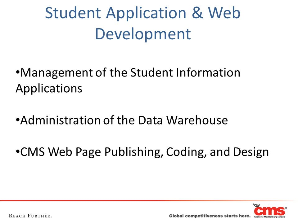 Student Application & Web Development