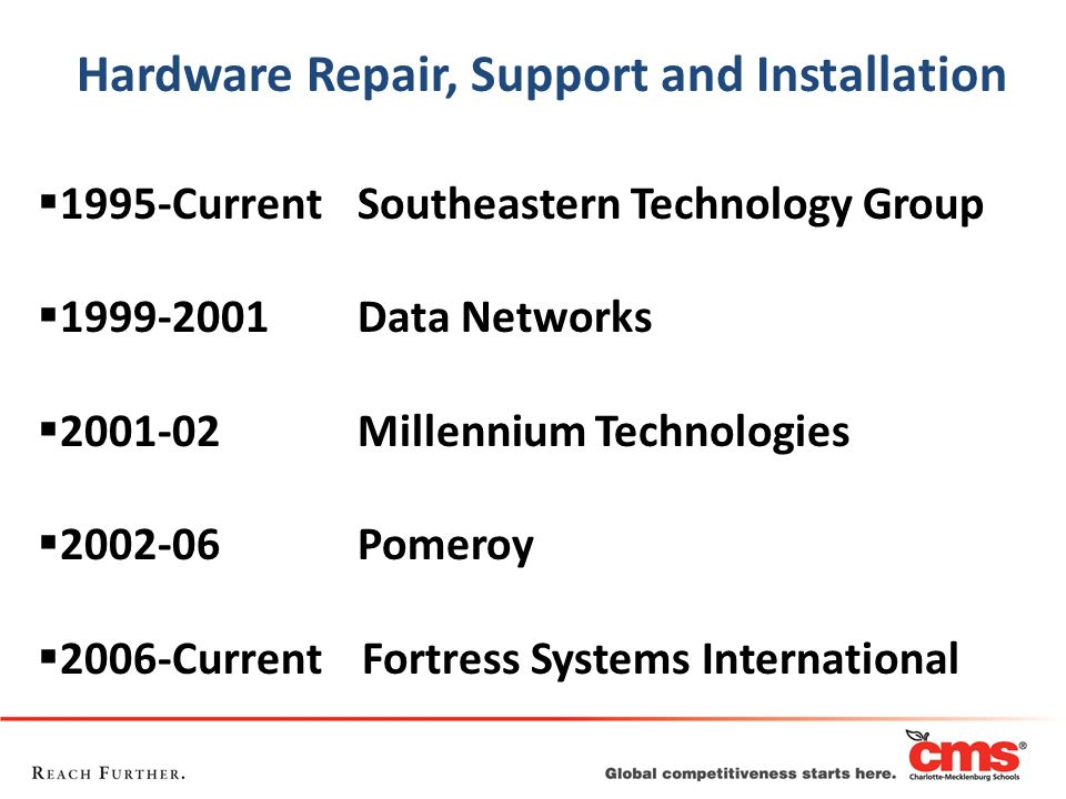 Hardware Repair, Support and Installation