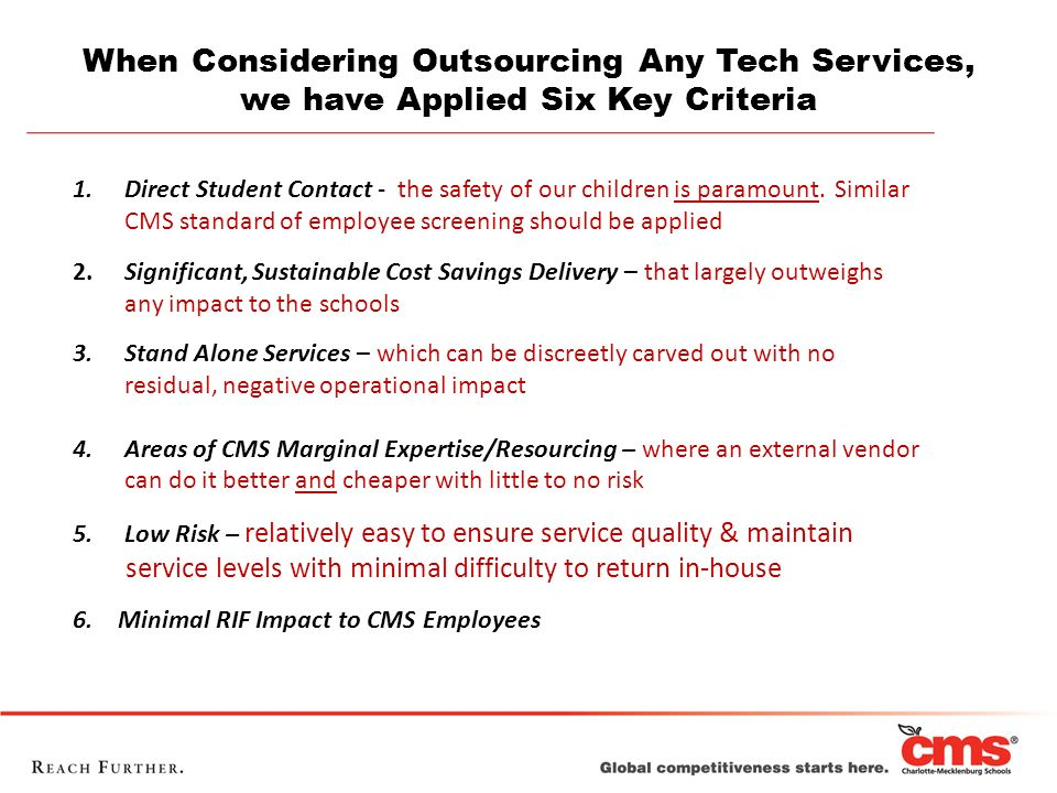 When Considering Outsourcing Any Tech Services,