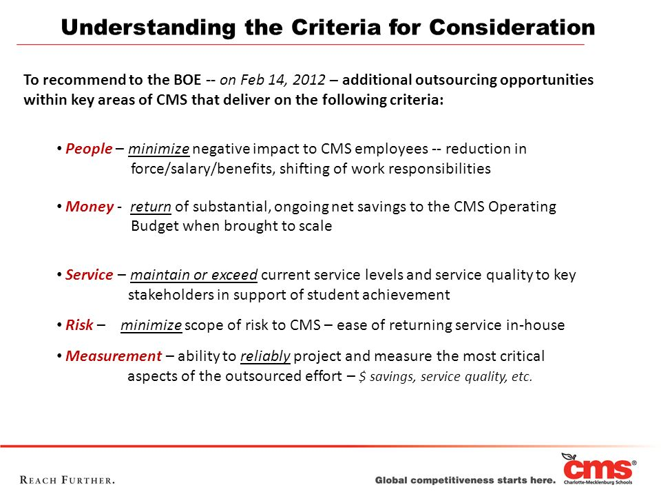 Understanding the Criteria for Consideration
