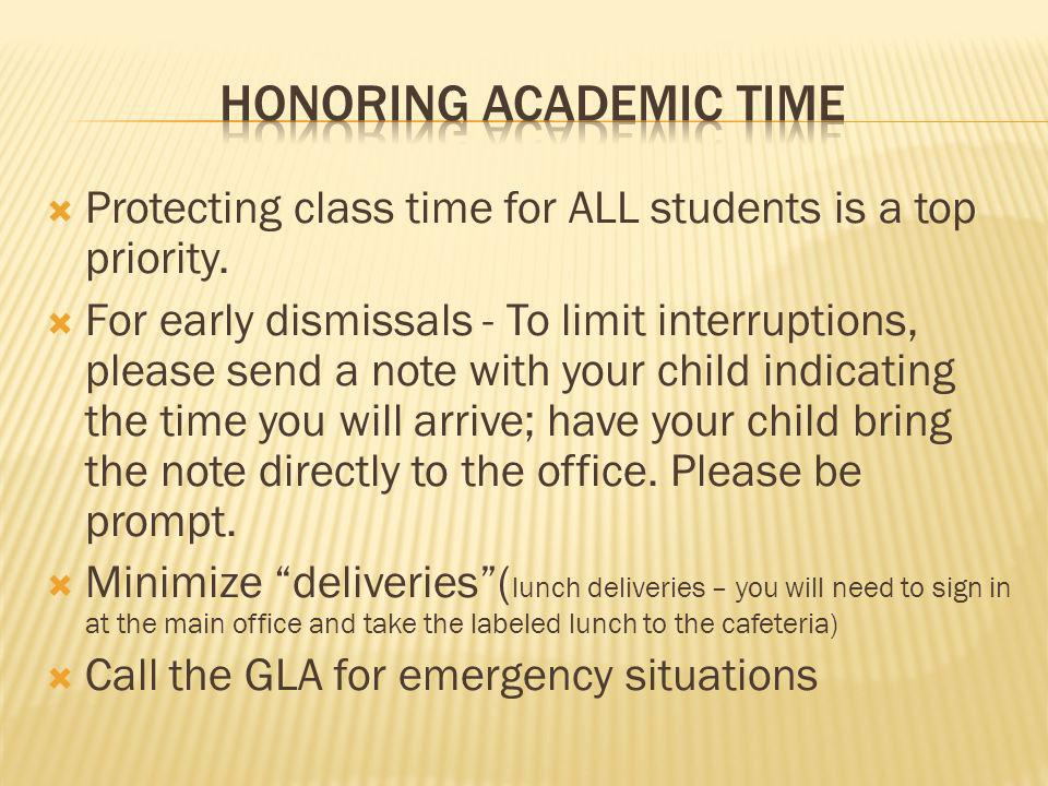 HONORING ACADEMIC TIME