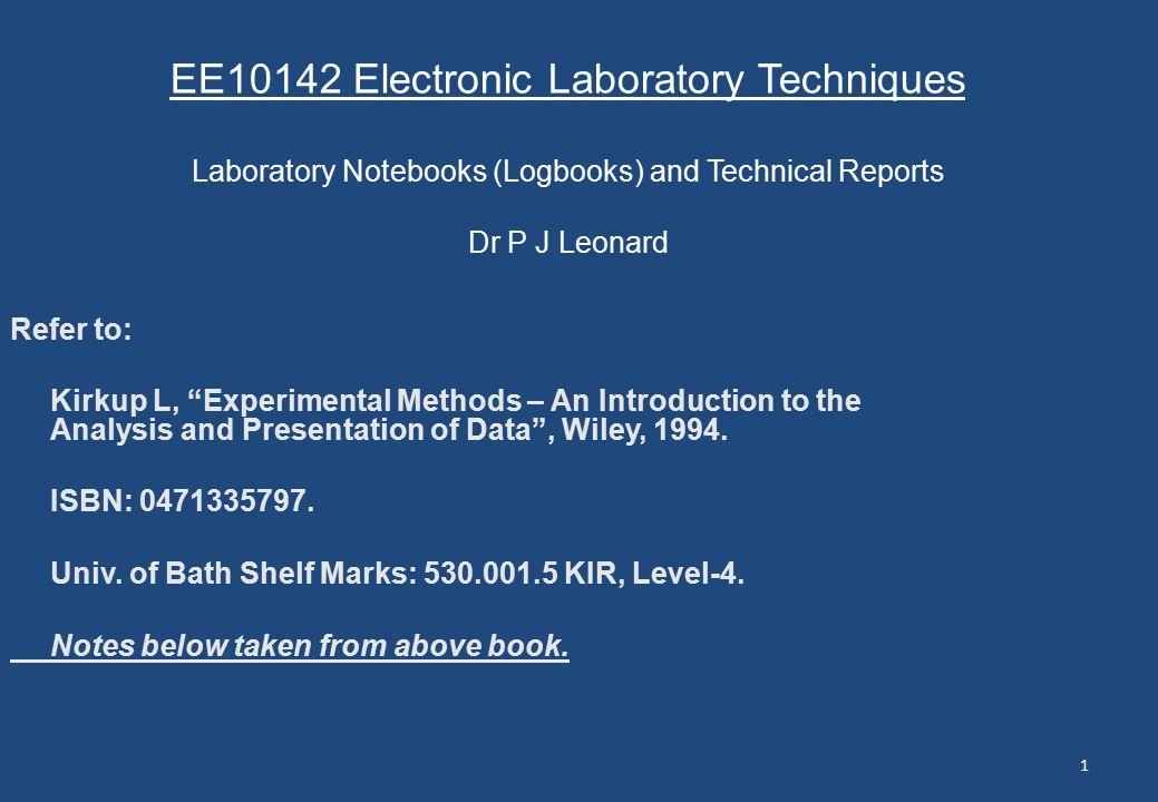 how to write an experimental method