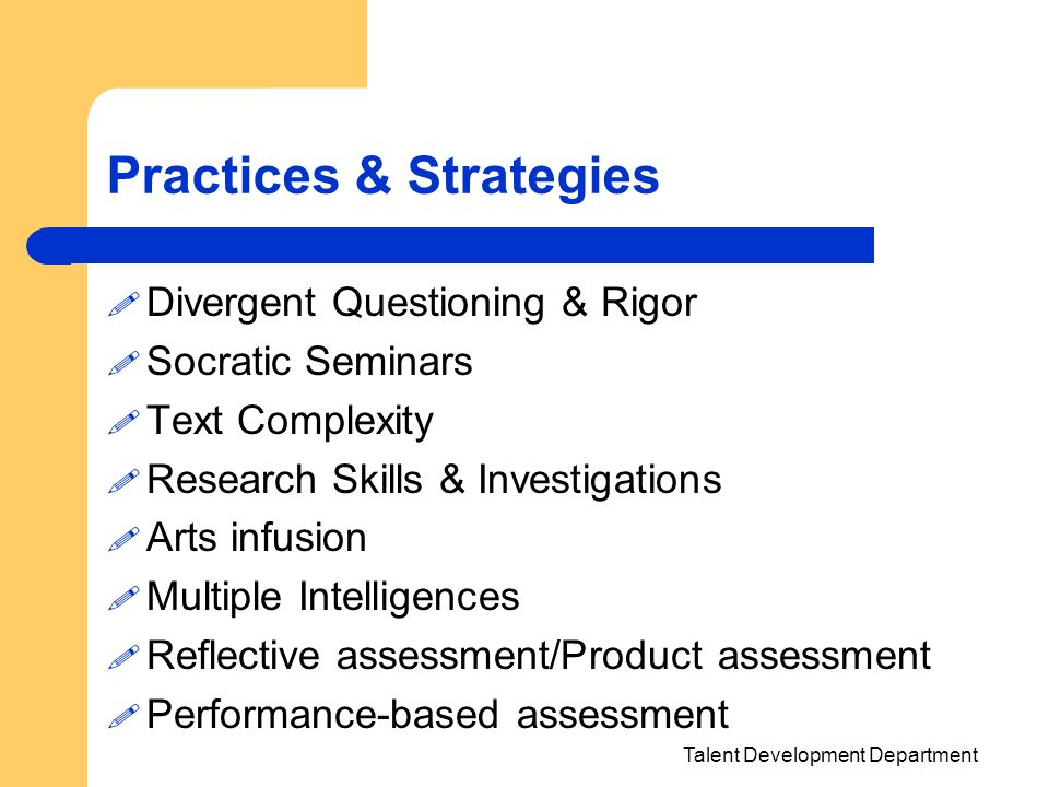 Practices & Strategies