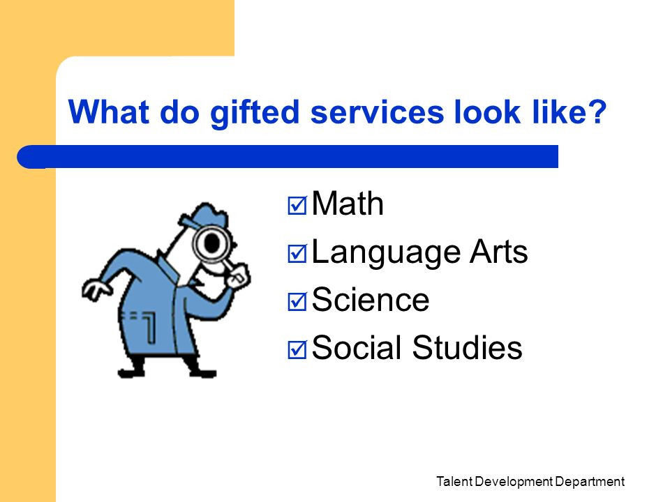 What do gifted services look like