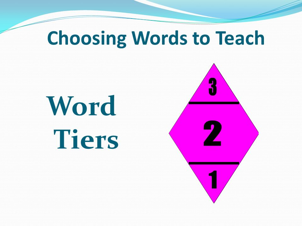 Choosing Words to Teach