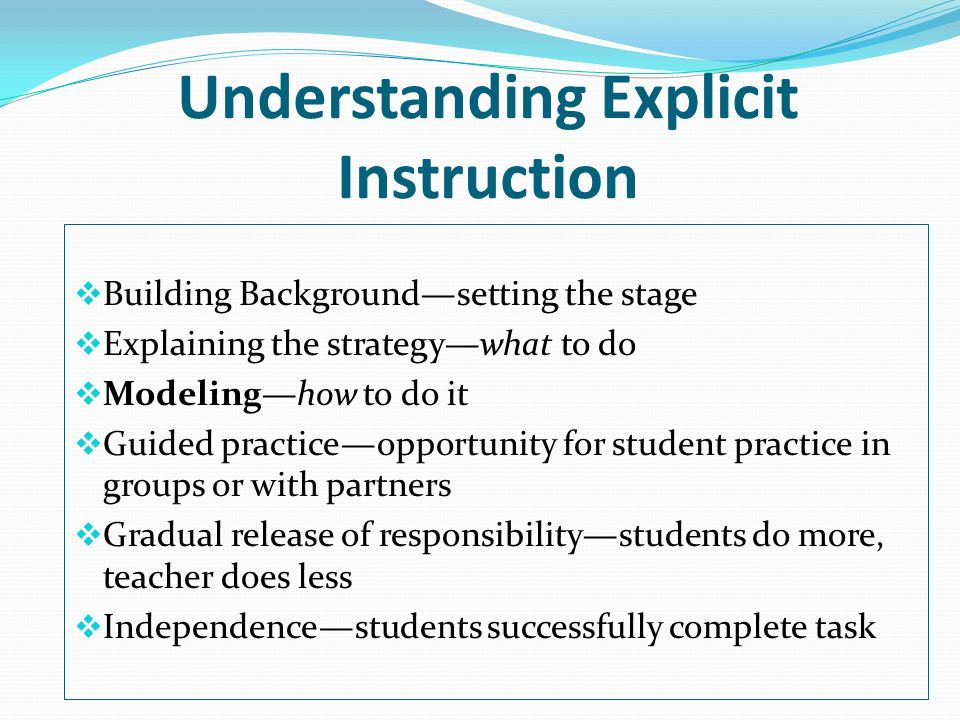Understanding Explicit Instruction