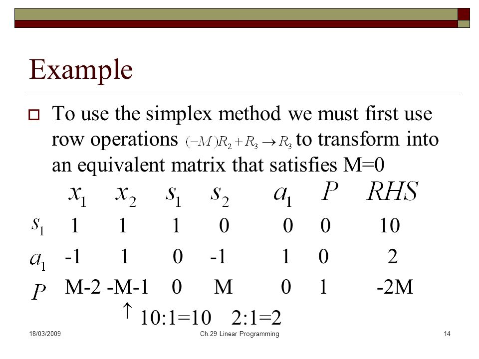 Simplex method example - Essay Example