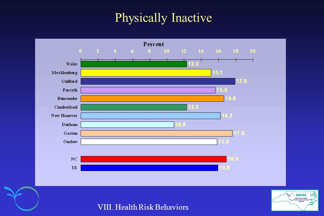 Physically Inactive VIII. Health Risk Behaviors