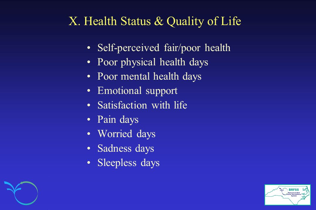 X. Health Status & Quality of Life