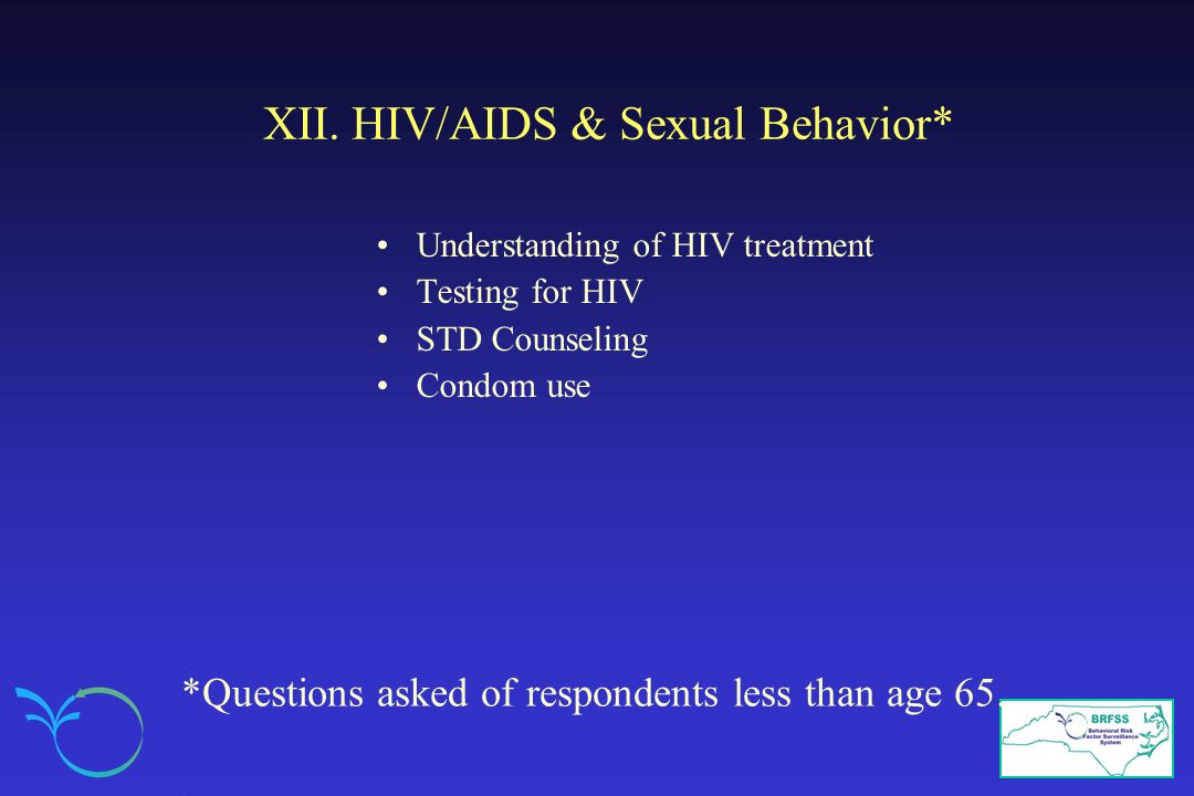 XII. HIV/AIDS & Sexual Behavior*