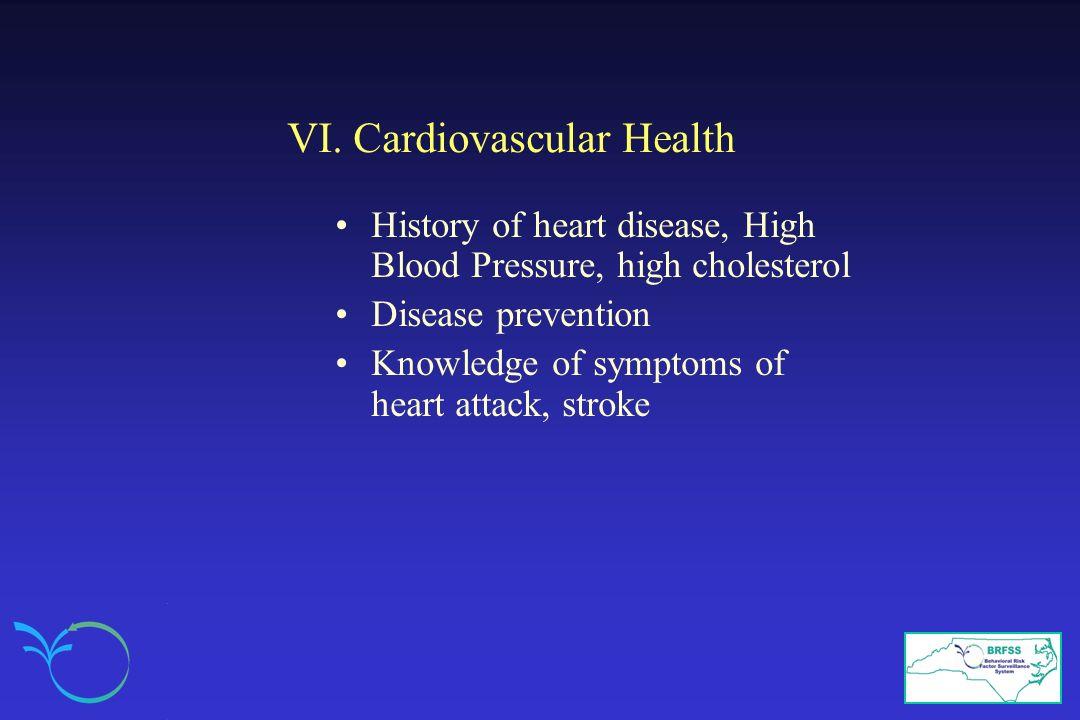 VI. Cardiovascular Health