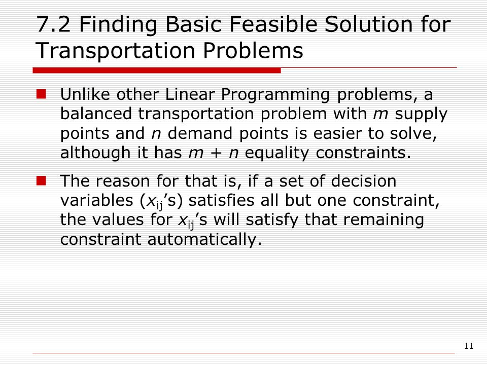How to solve transportation problem using least cost method