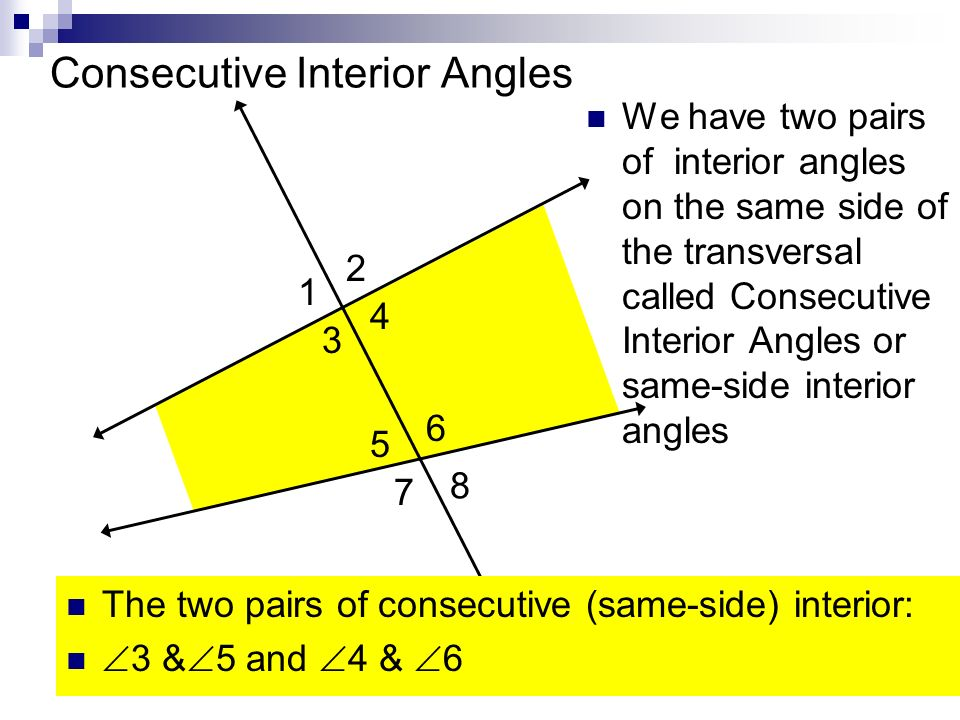 Consecutive Interior Angles